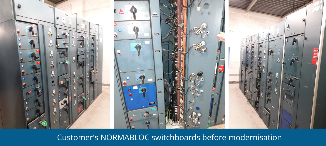 Customers NORMABLOC switchboards before modernisation