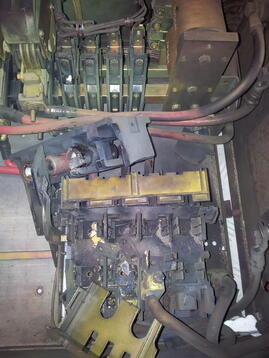 Départ de feu sur un sectionneur fusible - équipement obsolète
