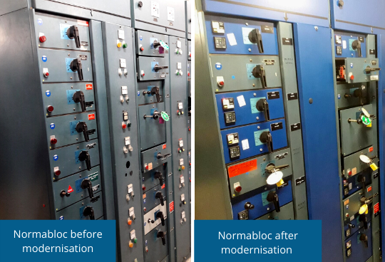 NORMABLOC switchboards before - after