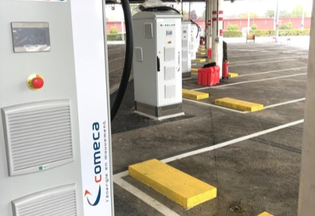 power expandable electric bus charging systems